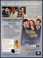 MAD DOG AND GLORY__Orig. 1993 Trade AD movie promo__UMA THURMAN__ROBERT DE NIRO