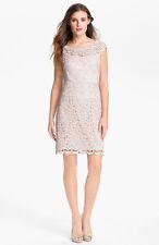 Suzi Chin for Maggy Boutique Scalloped Lace Sheath Dress ( Size 12)