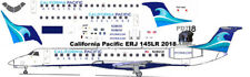 NEW RELEASE California Pacific Embraer ERJ 145 decals for Welsh 1/144 kits