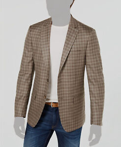 $285 Ralph Lauren 42R Mens Classic Fit Brown Sport Coat Wool Plaid Jacket Blazer