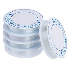 5X Spule elastisch Schmuckfaden Gummifaden Faden 0.7mm GY