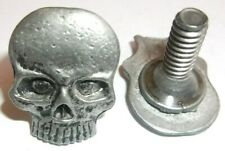 SCREW BACK LICENSE PLATE BOLT WITH SKULL HEAD