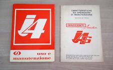 Innocenti J4 Libretto Manuale Uso e Manutenzione 1966 + Allegato J4S ORIGINALE