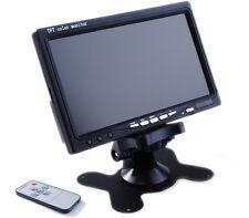 "Monitor 7"" TFT LED Display 2 Canali Ingressi Video Per Telecamera Auto 16:9 hsb"
