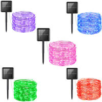 10m Waterproof 100&LED Solar Fairy String Strip Light Wedding Party Xmas Decor @