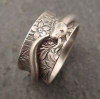 925 Sterling Silver Spinner Ring Handmade Meditation Ring Gift For Her MS-95