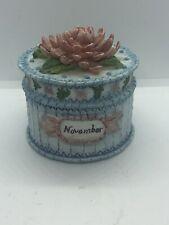 Linda Grayson Collection 1995 November Birthday Month Treasure Trinket Box