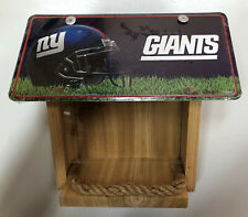 New York Giants License Plate Bird Feeder