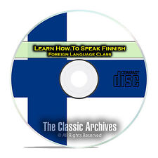 Learn How To Speak Finnish, Fast & Easy Foreign Language Training Course, CD D92