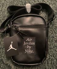 Nike Air Jordan Black Crossbody Shoulder Messenger Bag New