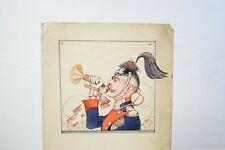 Vintage Rare Russian Royal Hand Painted Post Card Soldier With Trumpet С. Ш.