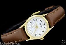 LTP-1094Q-7B8 Weiß Casio Damenuhr Echtes Lederband Neues Modell