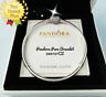 Pandora PAVE Heart Bracelet, Clear CZ, Sterling Silver Snake Chain #590727CZ