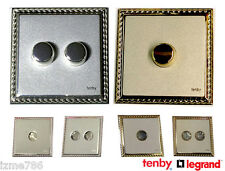SCREWLESS FACE Light Dimmer Switch Push On Off 2 Way - Quality Made In UK TENBY