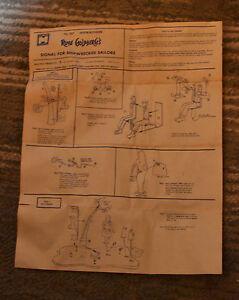 VTG 1965 Rube Goldberg's Signal Shipwrecked Sailors Instructions Sheet 957 N