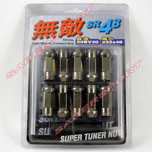 Muteki SR48 M12 X 1.50 Open End Acorn Wheel Lug Nuts Ti 20pcs For Hyundai Kia