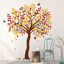 00688 Wall stickers Adesivi murali Autunno albero uccelli 160x200 cm
