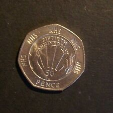 1998 50 YEARS OF THE NHS 50 PENCE COIN.