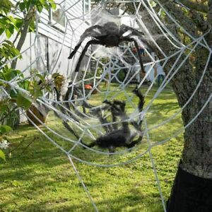 3.3m Giant Spider Web Horror Stretch Cobweb Party Outdoor Yard Halloween Decor