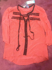 PLENTY BY TRACY REESE SILK TOP BNWT FREE POST (D36)