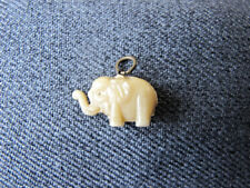Vintage creamy celluloid elephant charm pendant