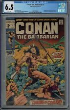 CGC 6.5 CONAN THE BARBARIAN #1 WHITE PAGES 1ST APPEARANCE CONAN & KING KULL 1970