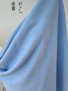 Light blue colour crepe fabric with some stretch two pieces 1.47m and 0.75m