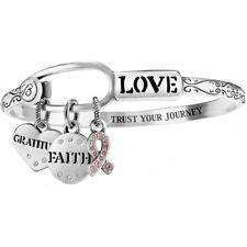 NEW Brighton POWER PINK SILVER Bangle Faith Love Breast Cancer CHARM Bracelet