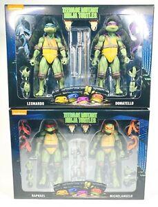 NECA Exclusive Teenage Mutant Ninja Turtles 2-Pack Bundle Mike Raph Leo Don, New