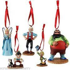 Disney Store Pinocchio Sketchbook Ornament Set of 5 Jiminy Cricket New 2015