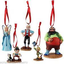 Disney Store Pinocchio Sketchbook Ornament Set of 5 Jiminy Cricket New 2015