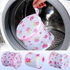 Rose Print Laundry Bag Underwear Bra Mesh Net Wash Bag for Washing Machine