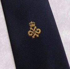 QUEEN'S AWARD EXPORT LOGO TIE VINTAGE CLUB ASSOCIATION 1980s NAVY BY TOOTAL