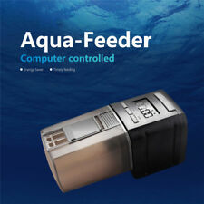 Black Digital Automatic Aquarium Auto Fish Tank Pond Food Feeder Feeding Timer