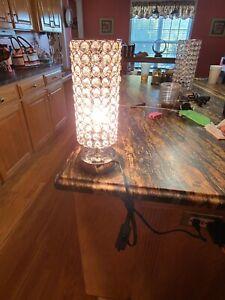 USB Crystal Table Desk Lamp With USB Port Desk Lamp Elegant Bedside  LED lights