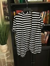 Peter Nygard Black And White Short Sleeve Cardigan Sweater Size L Mint Cond. #B7