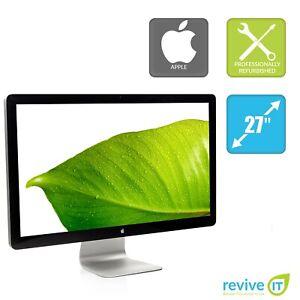 "Apple Cinema Display 27"" Wide 2560x1440 LED LCD Monitor MC007LL/A A1316 Grade B"