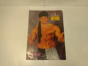 Burn Baby Burn Disco Inferno WCW Wrestling Autographed Signed Sheet n255