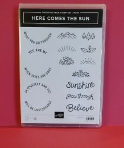 "Stampin'Up Stamp Set Clear Mount ""Here Comes the Sun""  #148793"