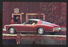 1973 BUICK RIVIERA CAR DEALER ADVERTISING POSTCARD COPY OLD CARS
