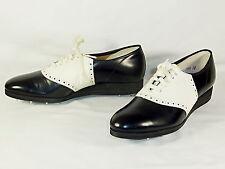 """Men'sGolf Shoes  LAZY BONES 1959 VINTAGE  size 7A  Black & White  DU-FLEX """"NEW"""""""