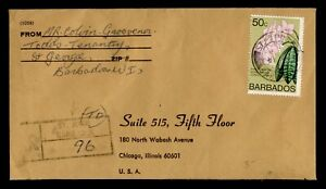 DR WHO 1974 BARBADOS ST JOHN REGISTERED TO USA C242843