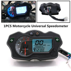 12000RPM Plastic Motorcycle LCD Speedometer Universal Tachometer Odometer Gauge