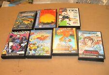 7x Empty Game Cartridge Cases with Inlays Sega Mega Drive Game Cartridge Lot