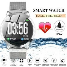 Waterproof Smart Watch w Pedometer Call Text Email Social FB Insta Notifications
