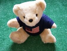 Vintage 1996 Polo Ralph Lauren Plush Stuffed Bear American Flag Sweater 14� Tall