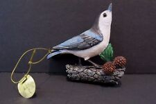 Danbury Mint White Breasted Nuthatch Songbird Christmas Ornament Bird with Tag