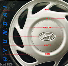 1992 HYUNDAI EXCEL / SONATA / SCOUPE / ELANTRA Brochure / Catalog: GLS,LS,