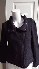 NEW ANN TAYLOR LOFT BLACK MULTI PETITE SHIRT JACKET SIZE XSP