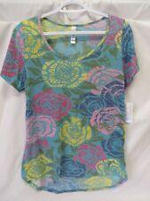 Lularoe Classic T Shirt Short Sleeve Multi Color Large Floral Print Size M #5892